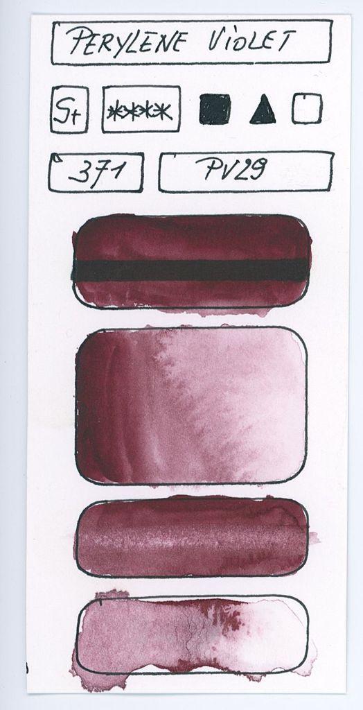 Les Pigments Violets A L Aquarelle Aquarellistes Peinture