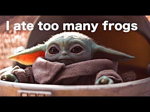 Baby Yoda Being Adorable With Subtitles Some More Youtube Yoda Funny Babies Yoda Wallpaper