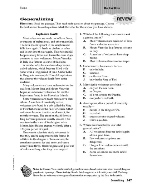 Making Teacher Worksheets : Generalizing worksheet lesson planet th grade