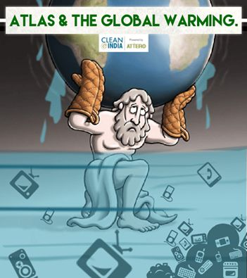 Here's a new version of Atlas with our planet earth. Save #Earth by supporting organised disposal of #eWaste. Visit http://www.cleaneindia.org/ to ensure a cleaner, greener and safer country.