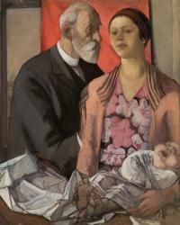 Nella Marchesini (1901-1953) Father and Sister -- Figure con bambino (il padre e la sorella Dadi), 1930-35