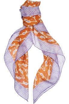 Ralph Lauren Collection Printed silk scarf NET-A-PORTER.COM - StyleSays