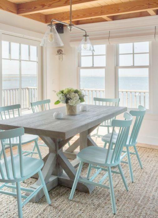 Minimal Cottage Style Dining Space Beach House Decor Coastal