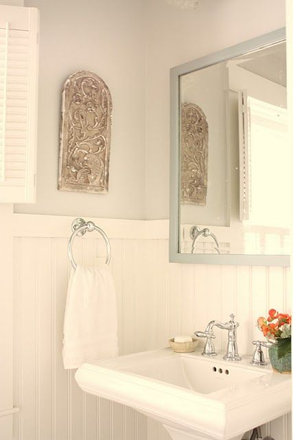 Latex white doves and bath on pinterest - Flat or satin paint for bathroom ...