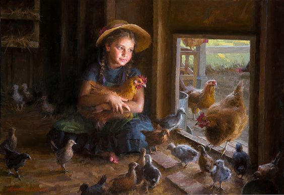 """Olivia's Coop by Morgan Weistling LIMITED EDITION CANVAS 25""""x17"""""""