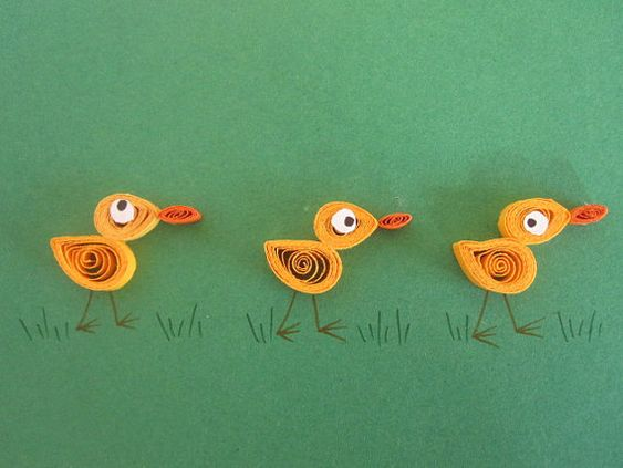 Yellow ducks on green background blank card by ElPetitTaller, €4.00