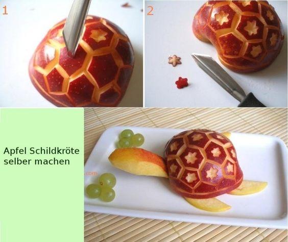 Apfel Schildkröte mit dekoriertem Panzer