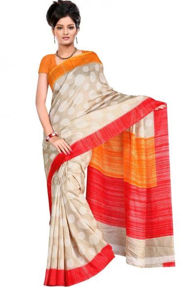 Beige Yellow #BhagalpuriSilk Printed Casual and Party Saree Sku Code:278-5076SA149078 US $ 27.00
