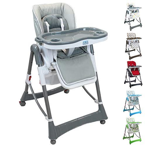 Monsieur Bebe Chaise Haute Enfant Pliable Reglable Hauteur Dossier Et Tablette En 2020 Chaise Haute Chaise Haute Enfant Chaise Haute Bebe
