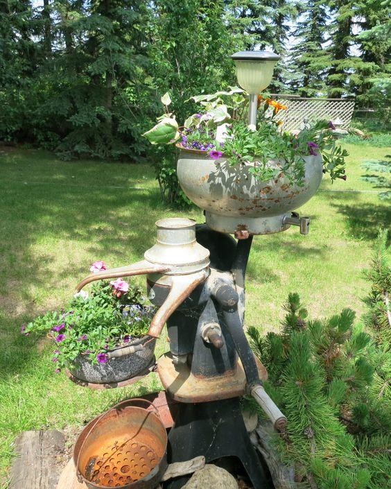 Antique cream separator planter vintage gardening for Garden separator