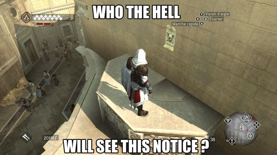 Played Assassin's Creed recently, and yes... this is true!