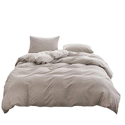 Bfs Home Stonewashed Cottonlinen Duvet Cover King 3piece Comforter Cover Set Breathable And Skinfriendly Bed Linen Duvet Cover Queen Linen Duvet Cover King Bed