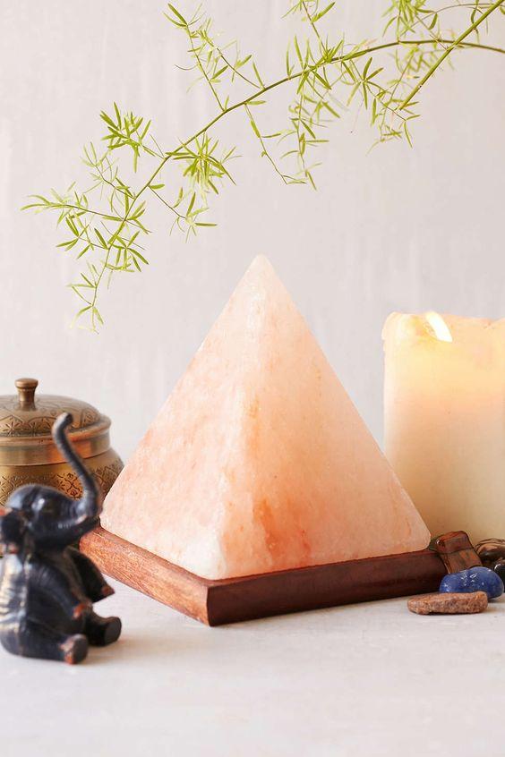 Pyramid Salt Rock Lamp - Urban Outfitters