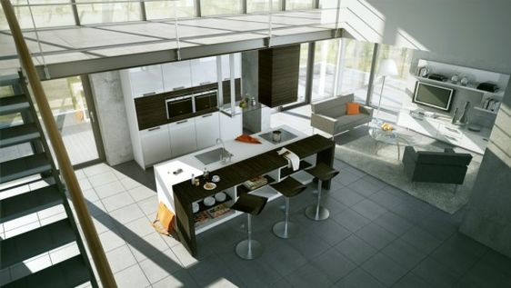 Modern Kitchen Inspiration......Big Image and More Detail go to here:   http://thehomedecorators.tumblr.com/post/22760859622