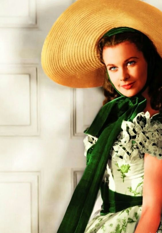 Scarlett O'Hara on her way to the Twelve Oaks barbeque GWTW