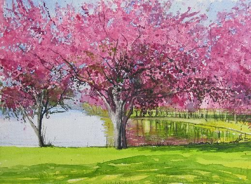 Jeanne Long ~ Perfection in Pink ~ watercolor