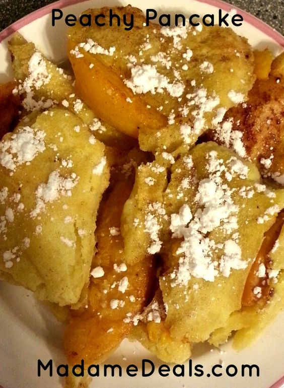 Kids Low Fat Recipes : Peachy Pancakes - Madame Deals, Inc. - http://madamedeals.com/kids-low-fat-recipes-peachy-pancake/