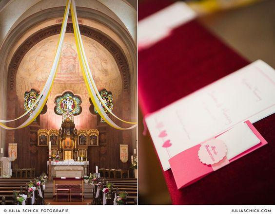 Hochzeitsdekoration in Herz Jesu Kirche Hamm