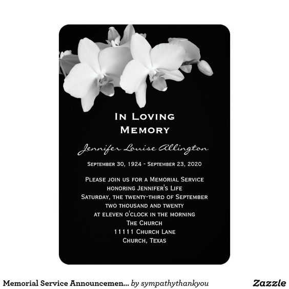 100 best Celebration of life Invitations images on Pinterest - memorial service invitation template