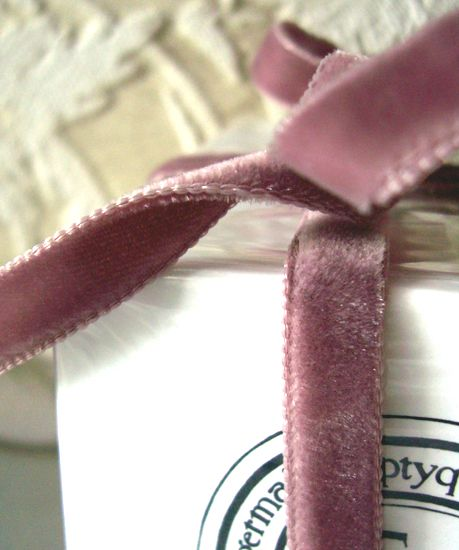 dusty rose velvet ribbon