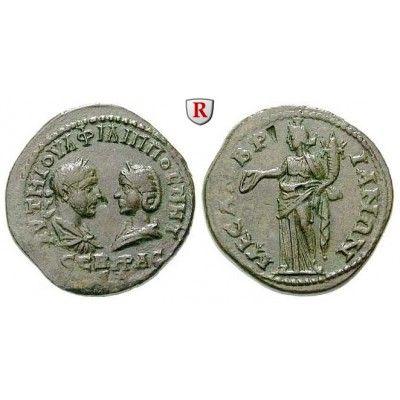 NEW  Römische Provinzialprägungen, Thrakien, Mesembria, Philippus I., 5 Assaria, vz: Thrakien, Mesembria. AE-5 Assaria 28 mm. Büsten… #coins