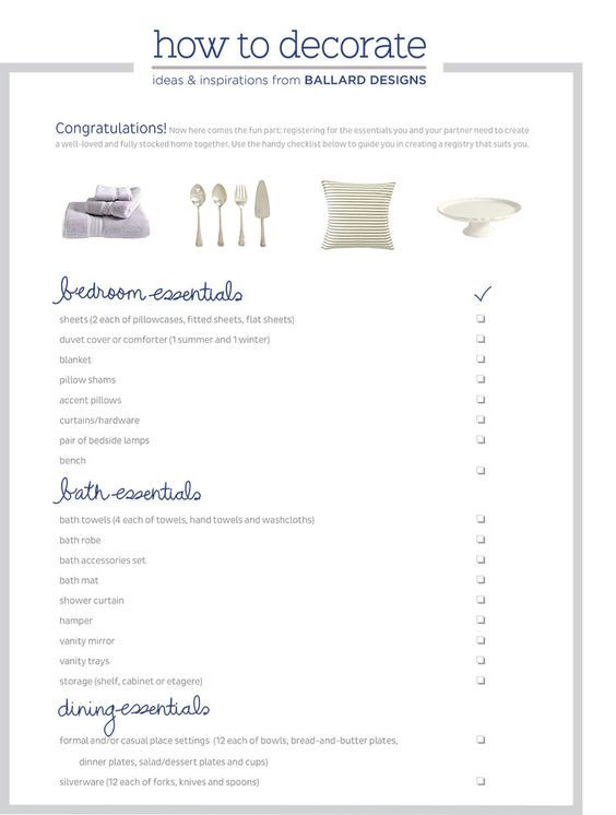 Wedding Gift Registry Checklist : Wedding & Gift Registry Checklist Gift Registry, Wedding Gift ...