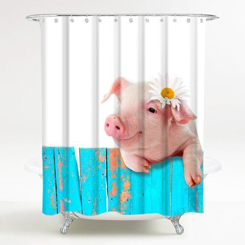 Pig Shower Curtain Sanilo Brown Shower Curtain Rose Shower