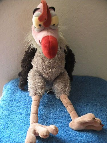"$73.50 Disney Store 14"" Lucky the Vulture Jungle Book EUC ..."