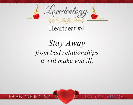 According to studies by researchers at Ohio State University in 2005, being in a bad #relationship can weaken your immune system and slow your healing process.