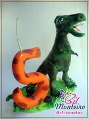 Gil Monteiro Artesanatos - RJ: Vela Dinossauro