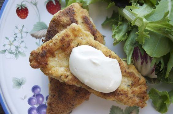 Day #81 Crispy Chicken with Garlicy Dijon Sauce