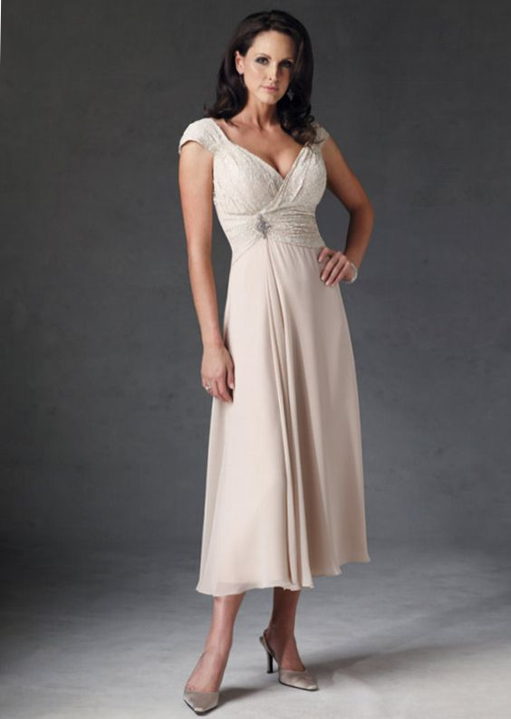 Older bride casual wedding dresses and casual wedding on for Wedding dresses for casual second weddings