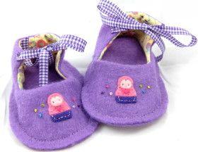 Felt baby shoe pattern.  So darn stinkin' cute!