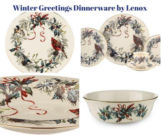Winter Greetings Dinnerware by Lenox