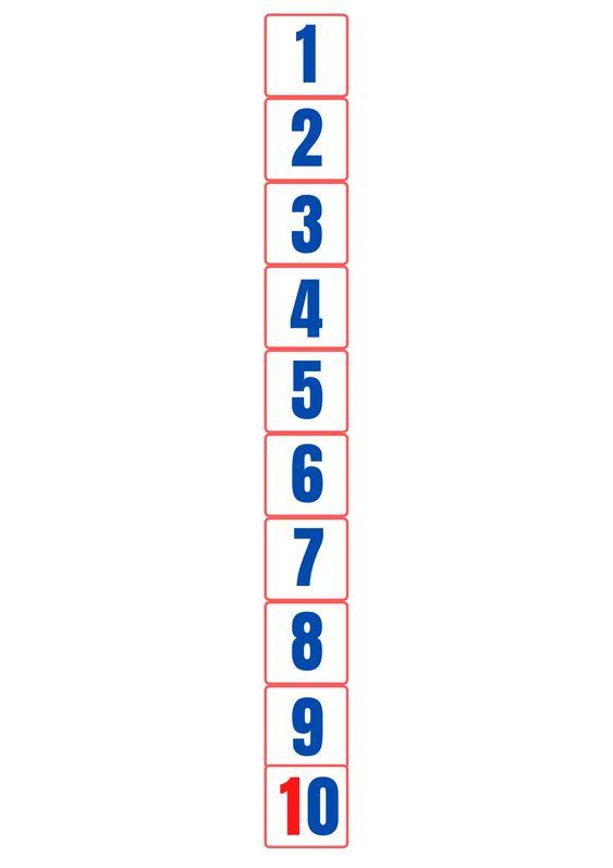 Recta numérica para Bee-bot – Imprimible