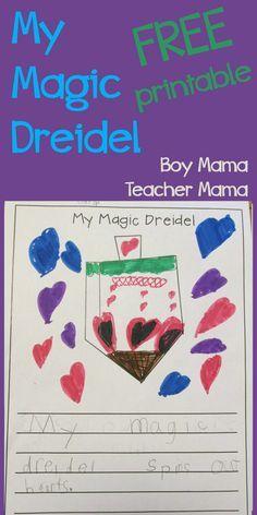 Boy Mama Teacher Mama | My Magic Dreidel FREE Printable