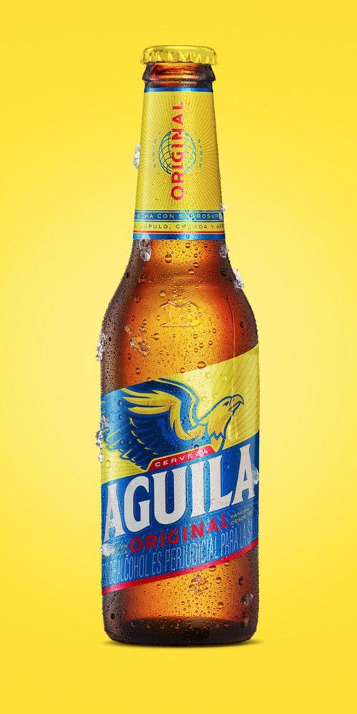 La Cerveza Colombiana Aguila Tiene Una Nueva Imagen Brandemia Cerveza Fotos De Cervezas Botellas De Bebidas