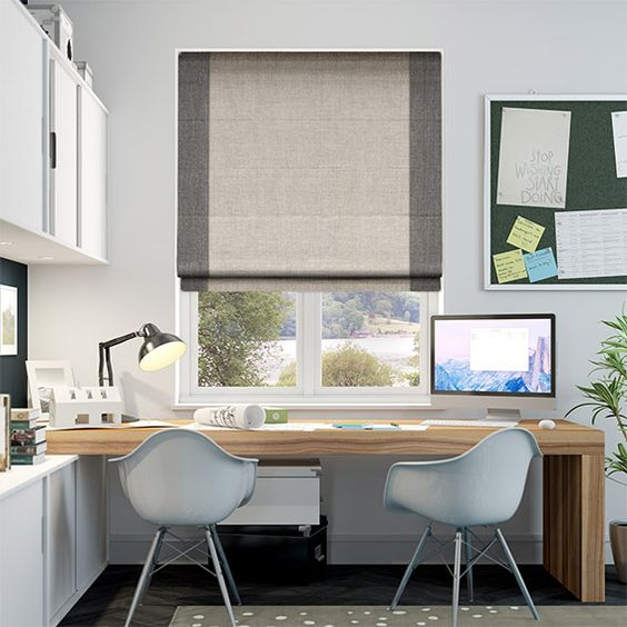 Working in tandem, the two fabrics create a rich and textured blind that's full of style and this combination help to keep your home looking light and natural with a trendy modern edge.