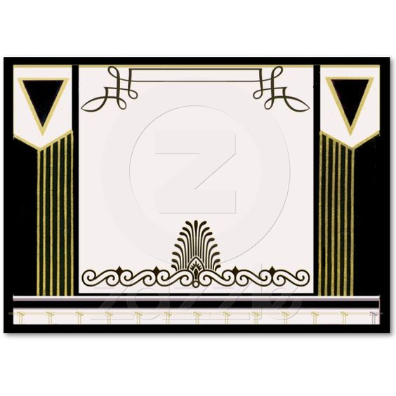 Vintage Art Deco Wedding Place Card Personalized Business Card Templates from Zazzle.com