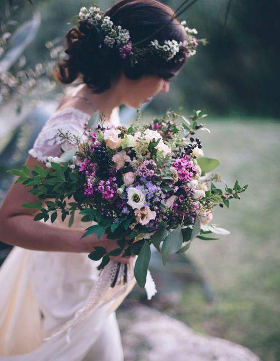 bouquet de mari e fleurs des champs 20 beaux bouquets de mari e pour gayer votre robe elle. Black Bedroom Furniture Sets. Home Design Ideas