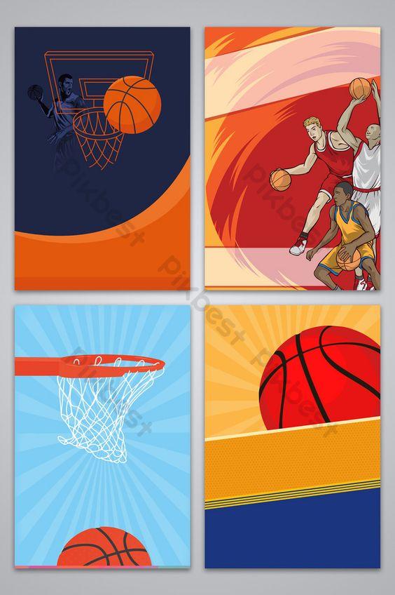 كرة السلة الرياضة فلم الخلفية خلفيات Psd تحميل مجاني Pikbest Sport Poster Poster Background Design Geometric Poster