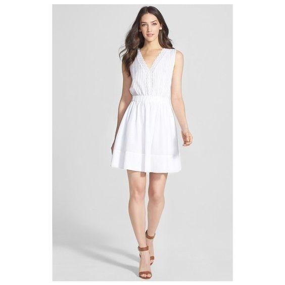 DIANE VON FURSTENBERG White Shilo Dress Size 10 NWT via Polyvore featuring dresses, white day dress, white dress, diane von furstenberg and diane von furstenberg dresses