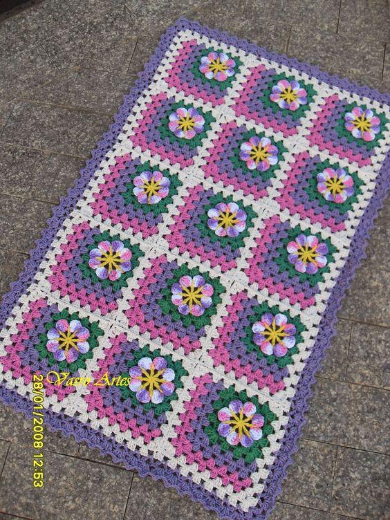 Oiк!!! tudo bem, lindas e lindos de plantгo???     Trazendo mais um tapete Acalanto, nas mesmas cores do outro post... o pessoal tб gosta...