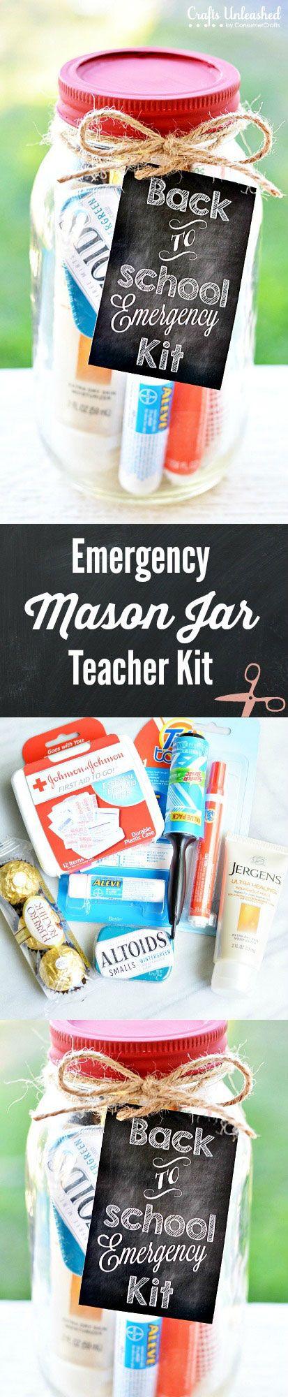 Emergency Mason Jar Teacher Kit
