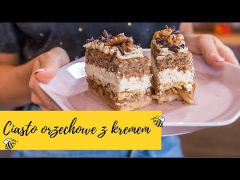 Przekladaniec Ciasto Jablkowe Z Orzechami I Kremem Slodka Kuchnia Pszczolek Youtube Backen