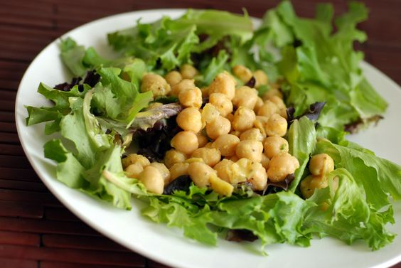 Easy Cheezy Chickpea Salad