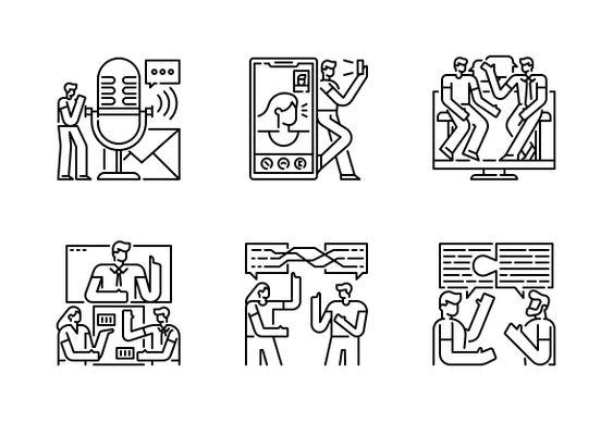 Communication Icons By Chattapat Communication Icon Icon Communication