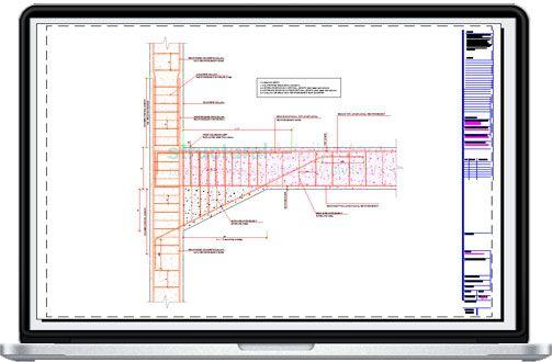 Cantilever Concrete Beam Reinforcement Detail With Adjucent Continuous Beam Reinforced Concrete Concrete Column Concrete