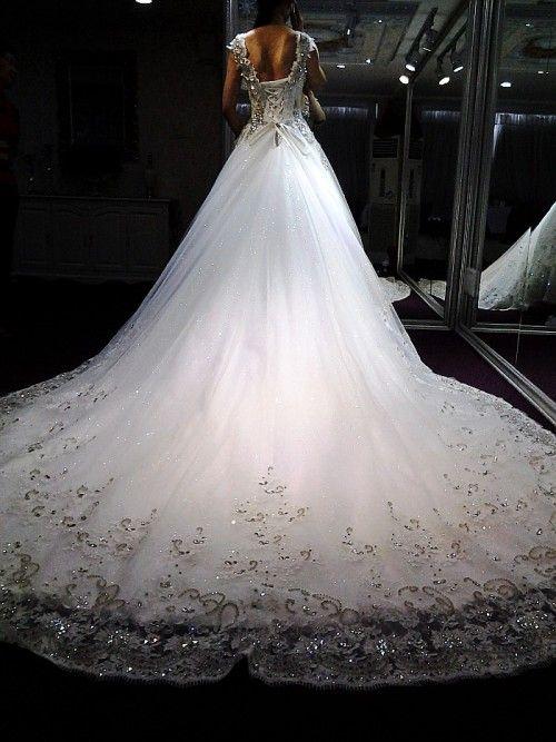 Pinterest the world s catalog of ideas for Big bling wedding dresses