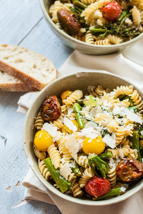 Grilled Tomato and Broccoli Pasta Salad with Balsamic Vinaigrette | My California Roots